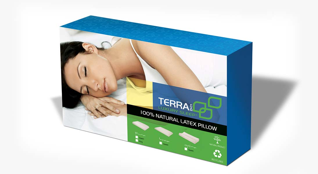 Insert Blu sleep emballage oreiller - conception design graphisme laval emballage packaging energik