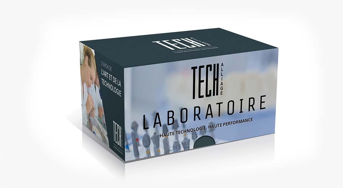 Boite laboratoire Tech-alliage - conception design graphisme laval emballage packaging energik