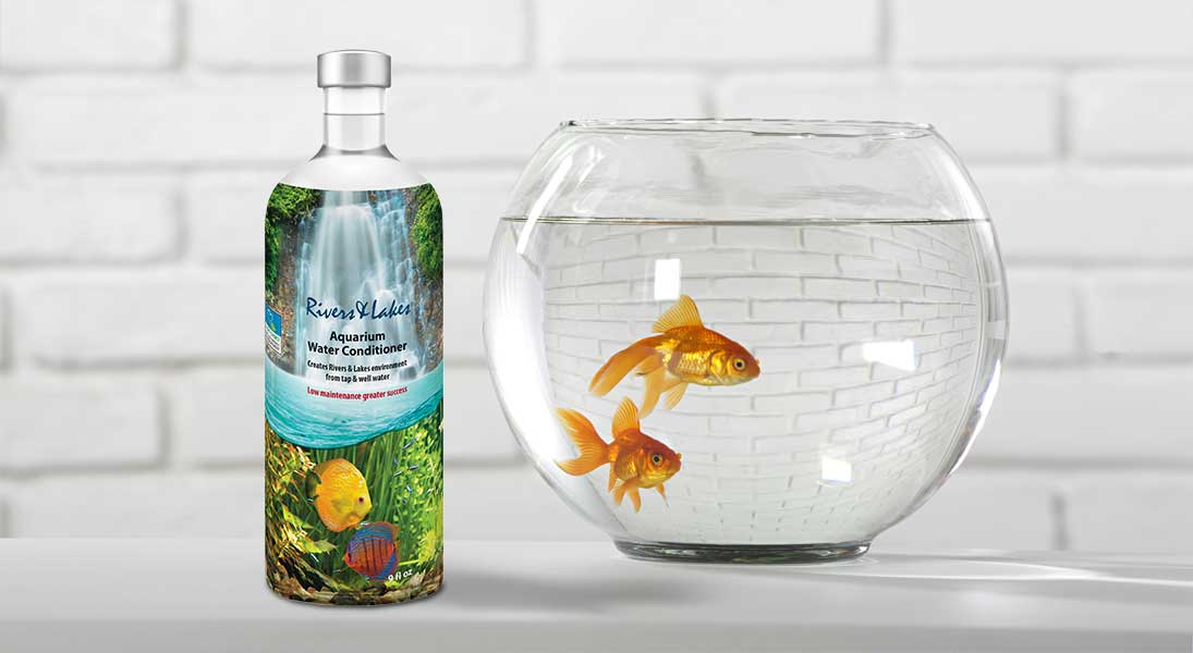 Packaging bouteille produit aquarium poisson - conception design graphisme laval emballage packaging energik
