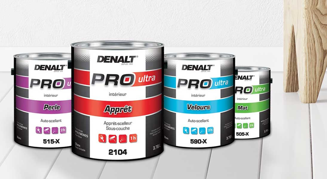Pots peintures Denalt Vie pure - conception design graphisme laval emballage packaging energik