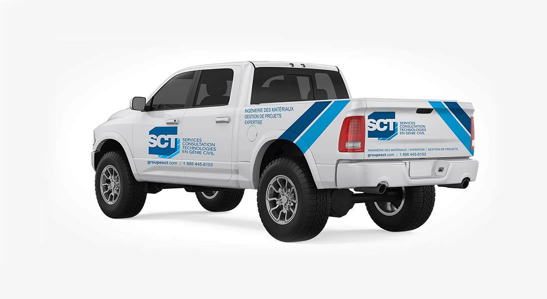 Habillage vehicule sct construction - renovation wrap conception design graphisme laval energik