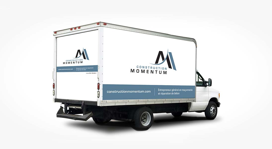 Habillage vehicule  constructions momentum - renovation wrap conception design graphisme laval energik