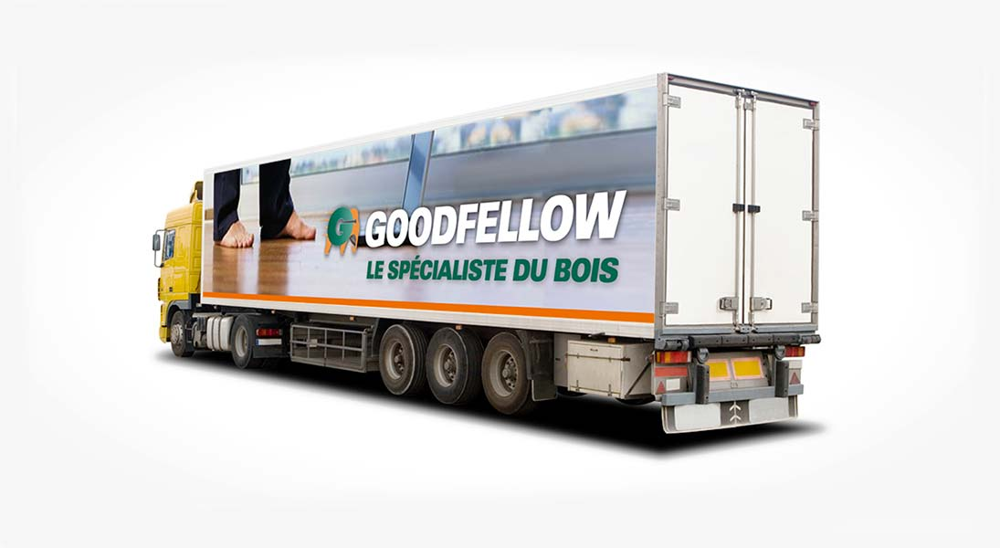 Habillage vehicule goodfellow  - renovation wrap conception design graphisme laval energik