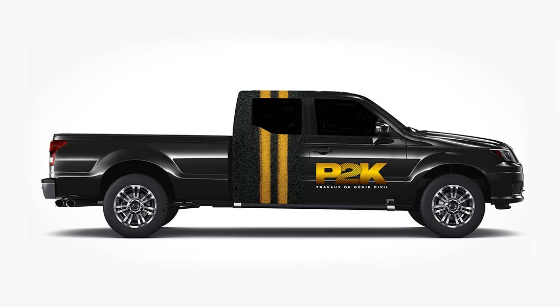 Habillage vehicule p2k - renovation wrap conception design graphisme laval energik