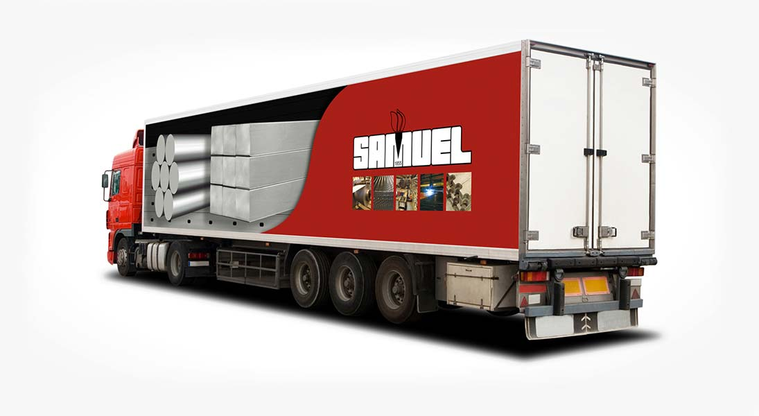 Habillage vehicule samuel metal  - renovation wrap conception design graphisme laval energik