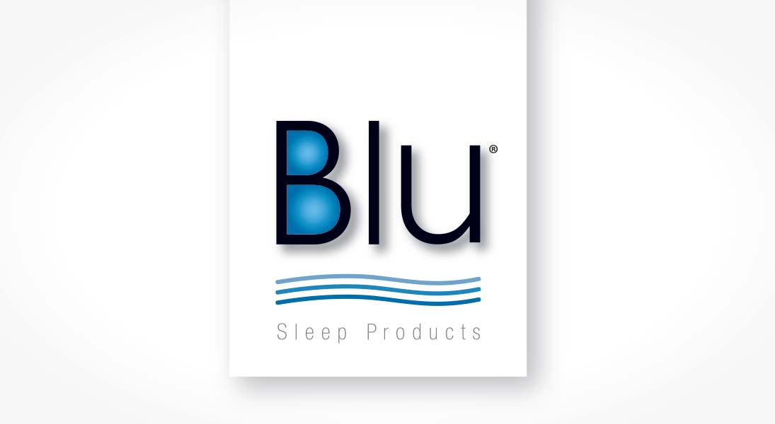 logo Blu sleep products - logo stationery conception design graphism laval energik