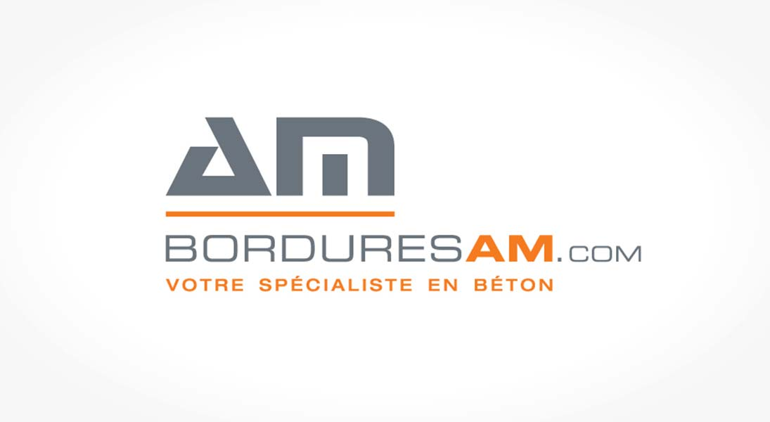 logo bordures AM - construction concrete specialist logo stationery conception design graphism laval energik