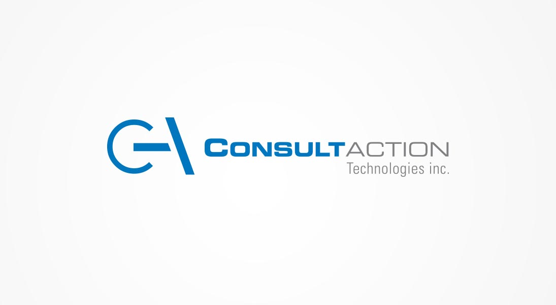 logo consultaction - technology action logo stationery conception design graphism laval energik