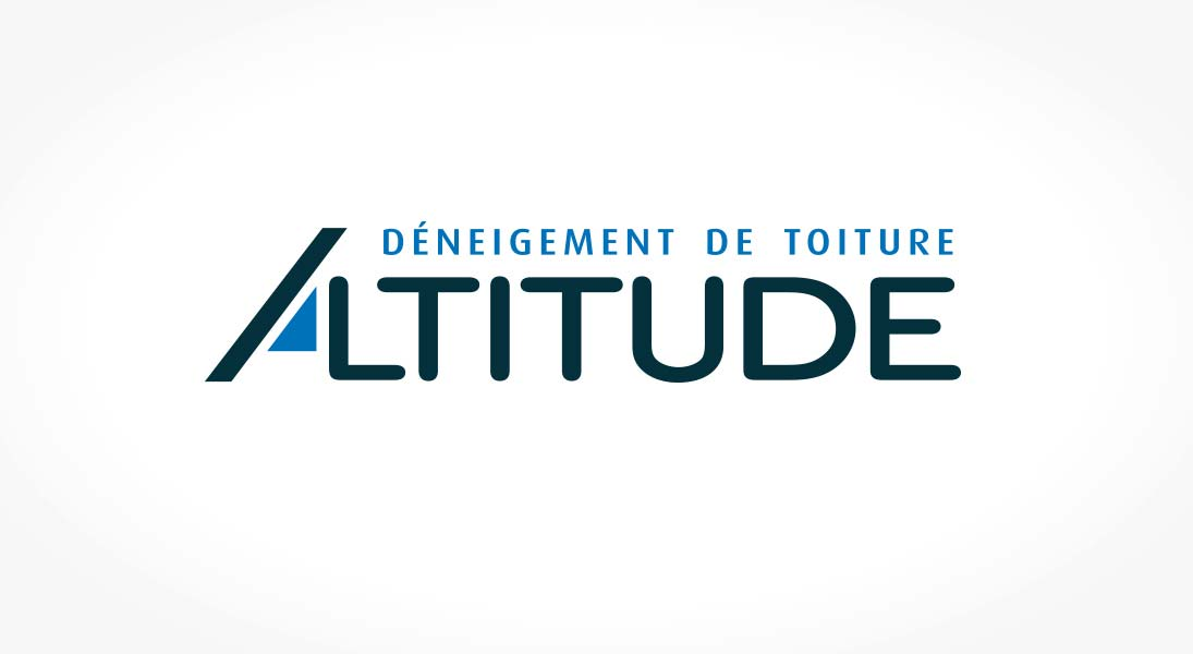 logo déneigement toiture Altitude - roof snow removal service logo stationery conception design graphism laval energik