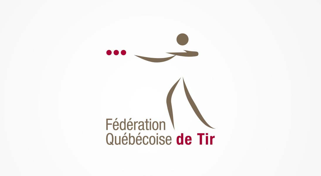 logo Fédération québécoise de tir - shooting federation course firearms logo stationery conception design graphism laval energik