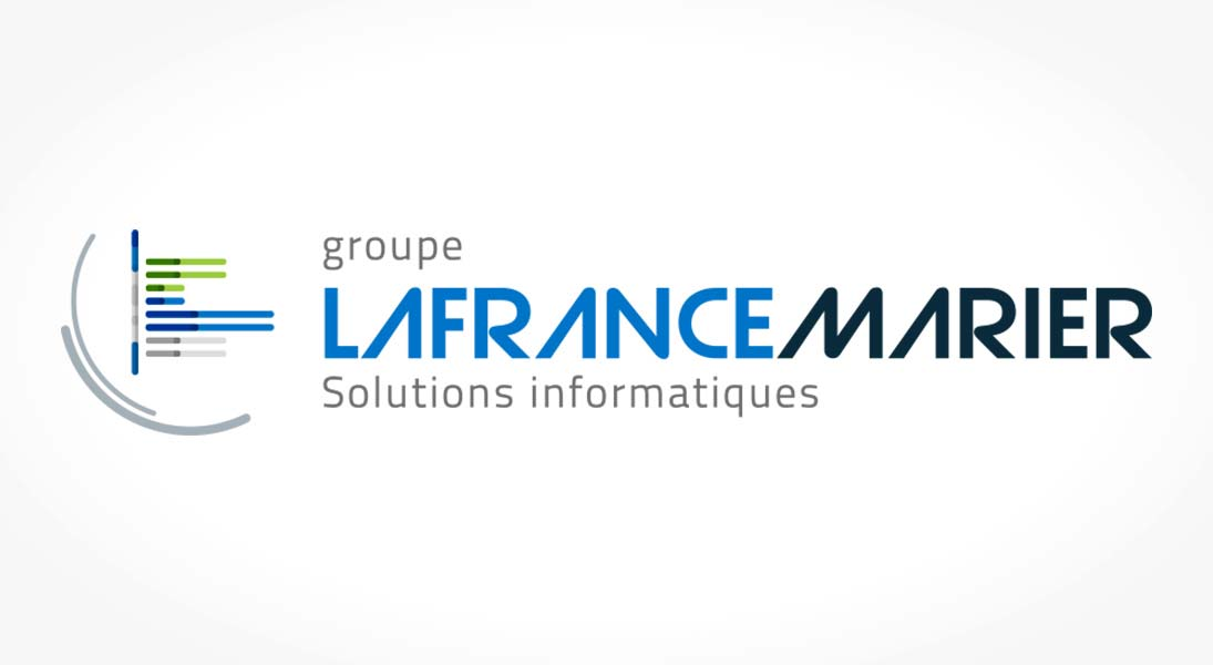 logo lafrance marier - data processing solutions logo stationery conception design graphism laval energik