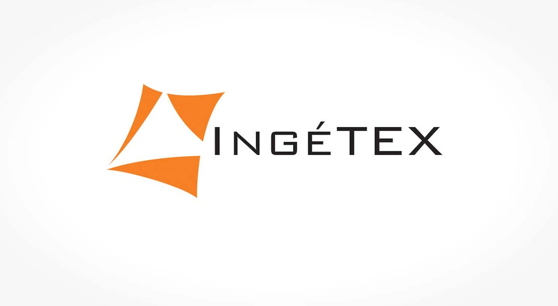 logo ingetex - logo stationery conception design graphism laval energik