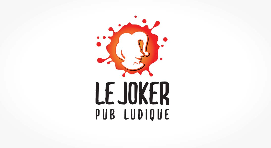 logo Le joker - pub board game bar logo stationery conception design graphism laval energik