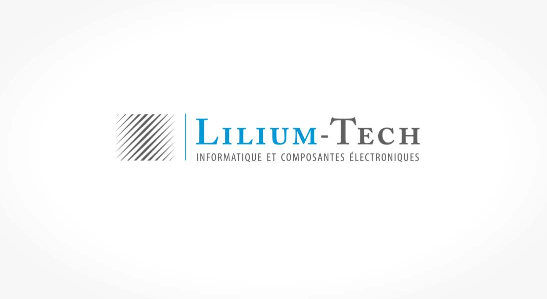 logo lilium-tech - data electronics logo stationery conception design graphism laval energik