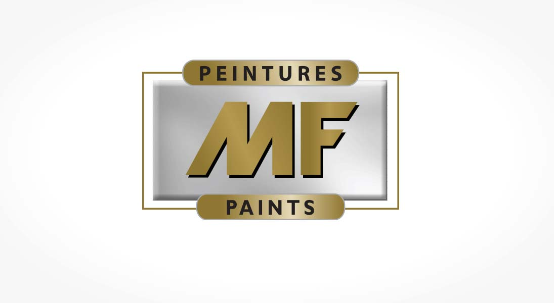 logo MF paints - paint manufacturer logo stationery conception design graphism laval energik