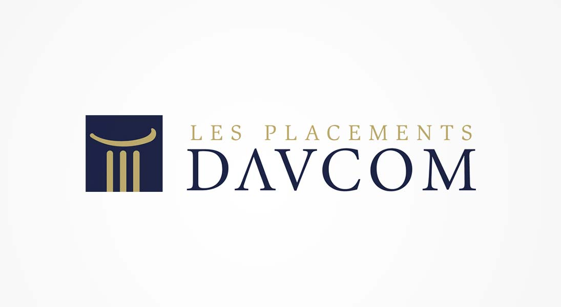 logo davcom - investment finance logo stationery conception design graphism laval energik
