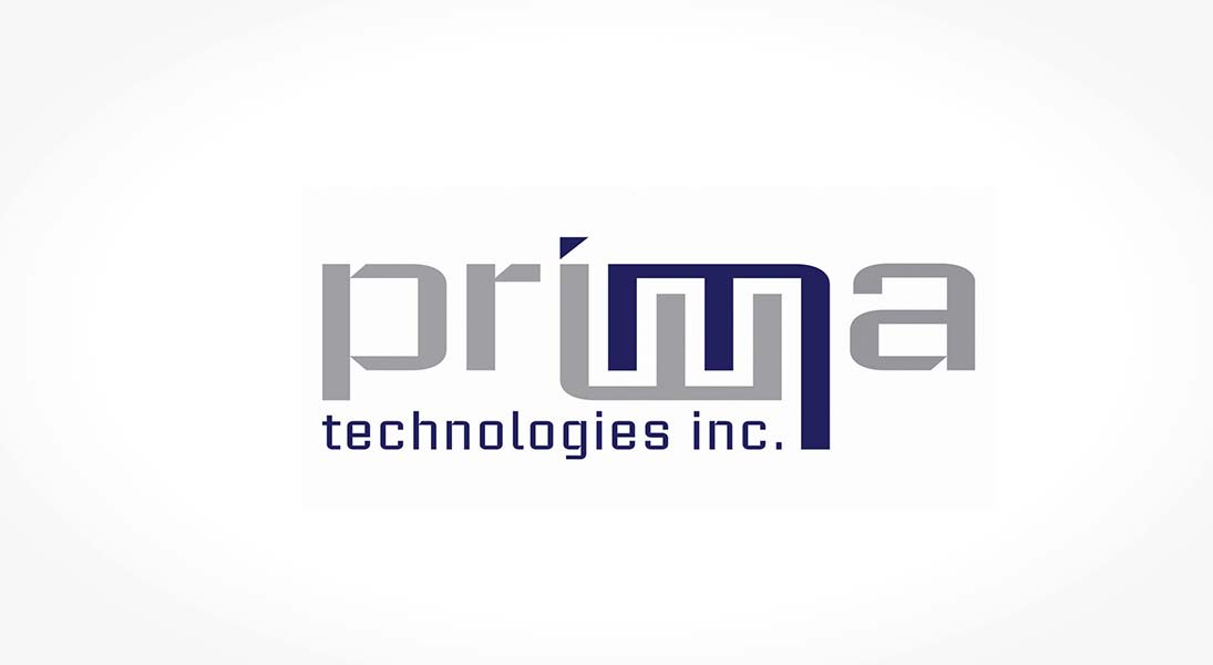 logo Prima technologies - data processing service logo stationery conception design graphism laval energik