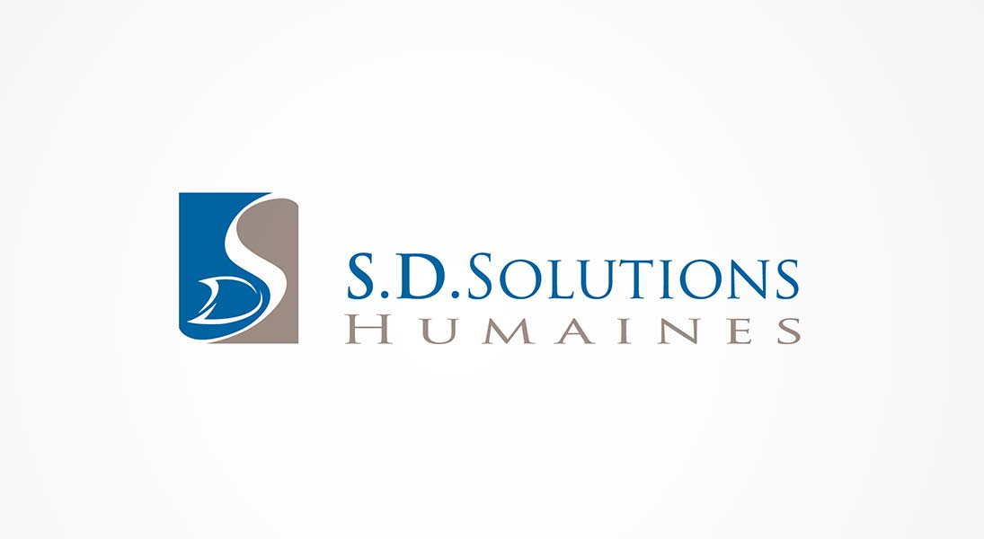 logo SD solutions humaines - solvency solutions entreprise logo stationery conception design graphism laval energik