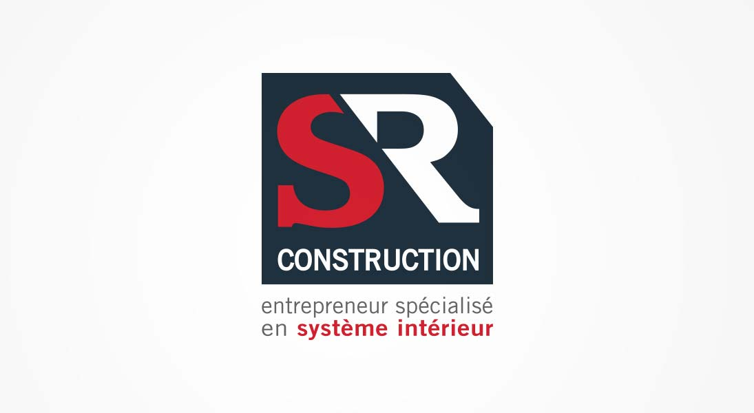 logo SR construction - renovation construction industrial logo stationery conception design graphism laval energik