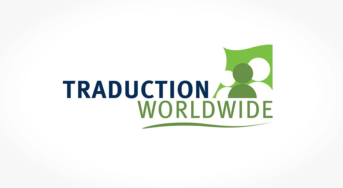 logo Traduction worldwide - translating services logo stationery conception design graphism laval energik