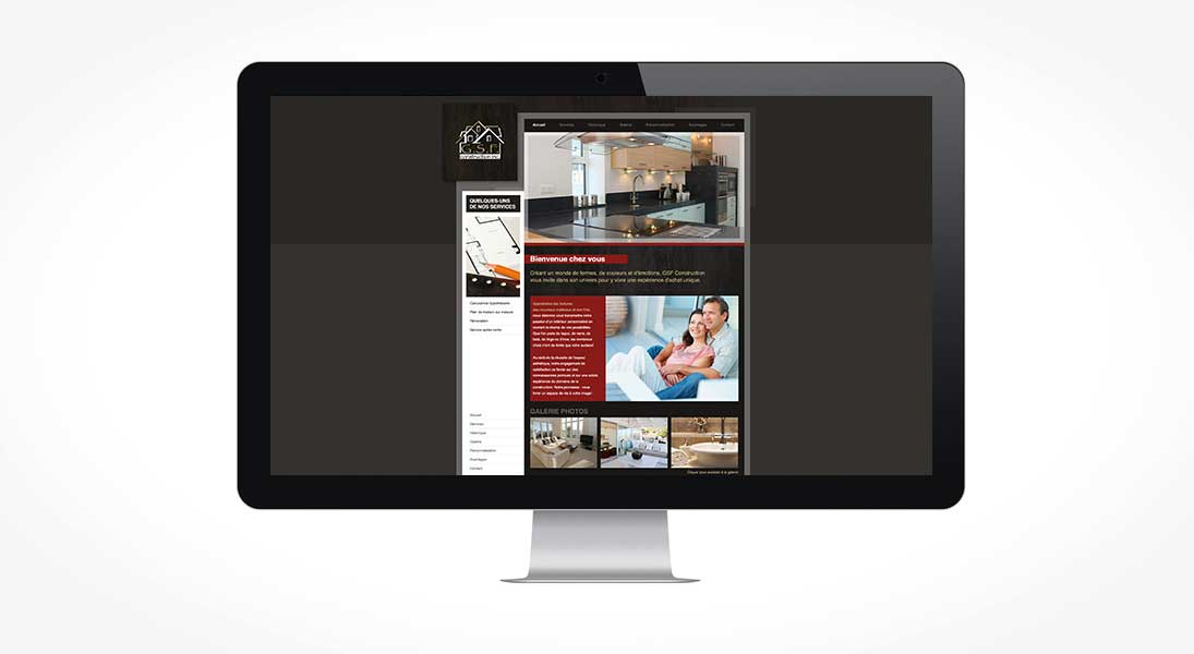 Site web gsf constructions - web site responsive conception design graphisme laval energik
