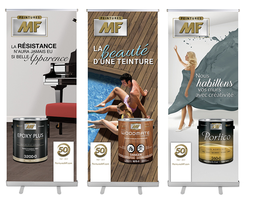POSTERS, PORTABLE KIOSKS, STANDS